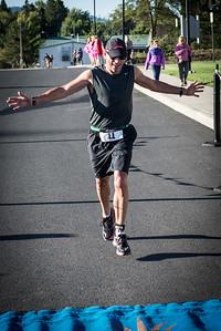 2014 Palouse Sprint Triathlon - Finish line