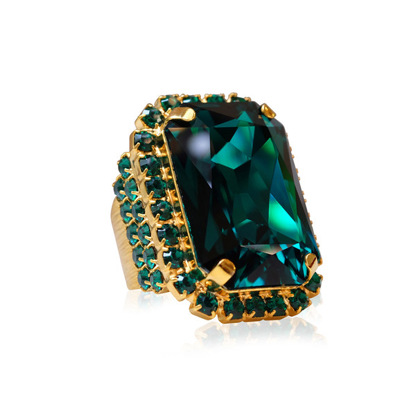 Alexa Cocktail Ring / Emerald Gold