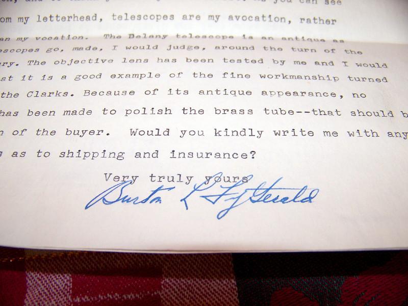 Here's a rare view of Burton Fitzgerald's signature.
