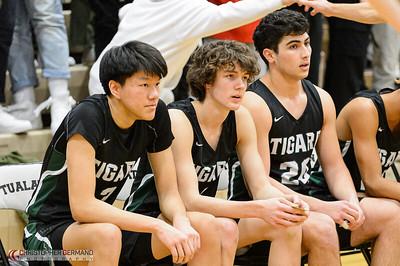 Tigard High School Varsity Boys Basketball vs Tualatin - Away
