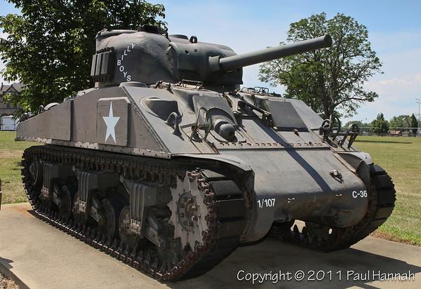 """Veterans Home - Sandusky, OH - M4A3 & 3"""" Gun"""