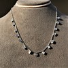 2.88ctw 18kt White Gold Scatter Necklace 17