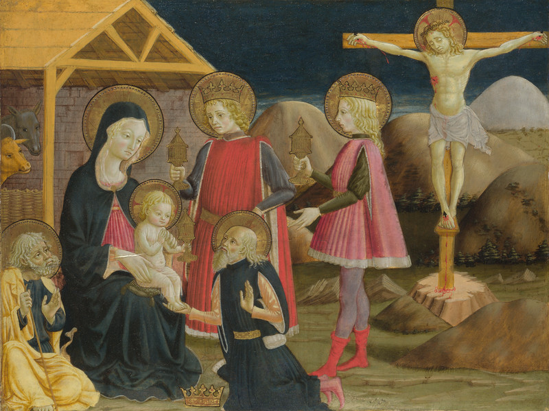 The Adoration of the Kings, and Christ on the Cross