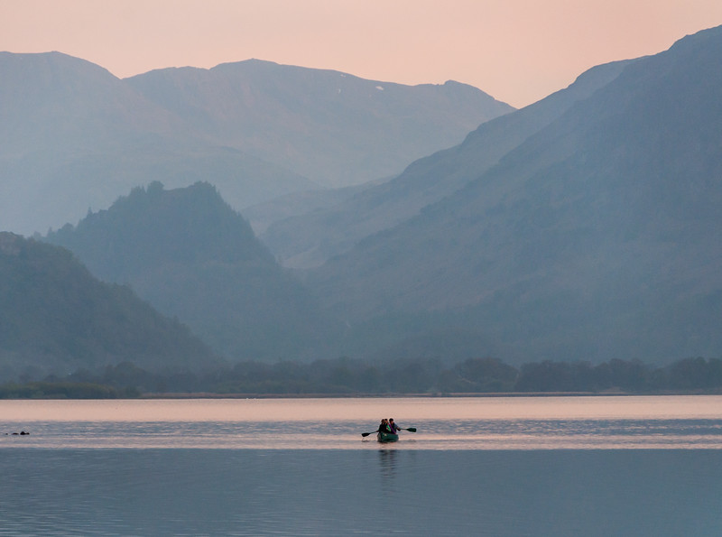 Rowing on Derwent Water