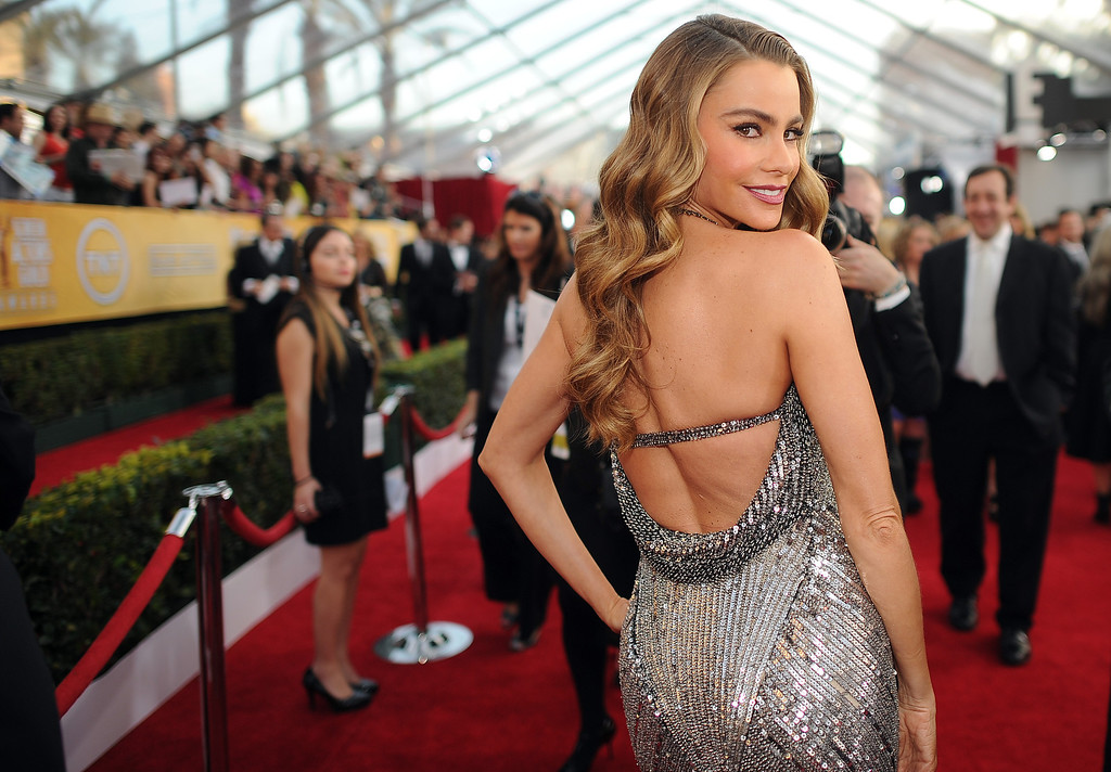 . Sofia Vergara on the red carpet at the 20th Annual Screen Actors Guild Awards  at the Shrine Auditorium in Los Angeles, California on Saturday January 18, 2014 (Photo by Hans Gutknecht / Los Angeles Daily News)