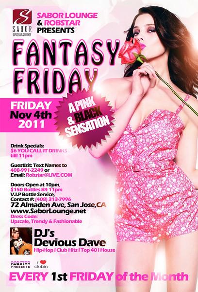 Fantasy Friday @ Sabor Tapas Bar & Lounge 11.4.11