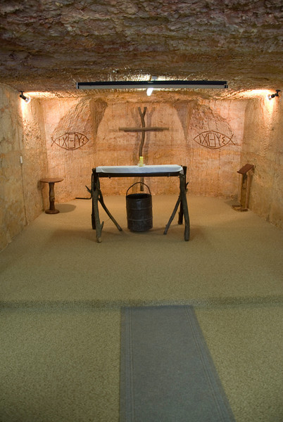 Altar in Catacomb Anglican Church - Coober Pedy, South Australia