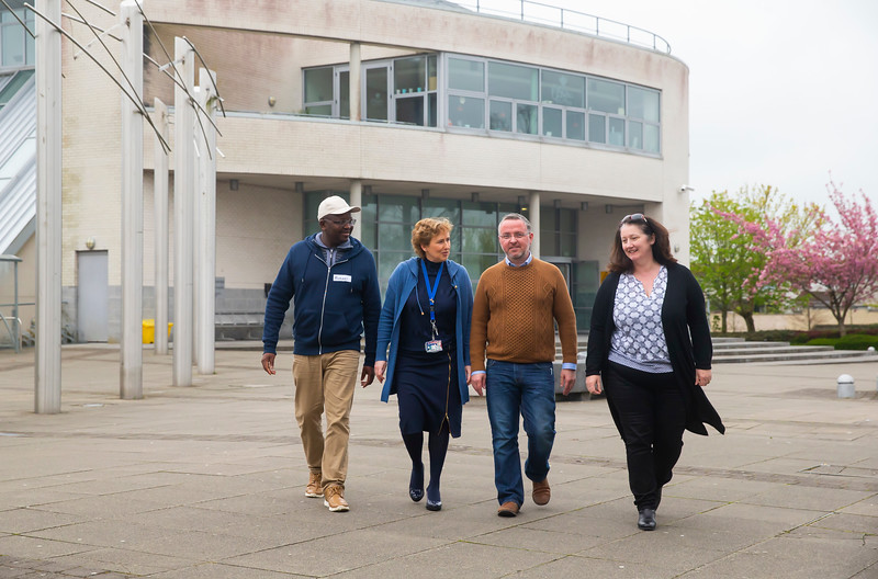 Pictured at Waterford Institute of Technology a the Mature Student Taster Day. Pictured are Michael Ibraham, Kilkenny, Ruth Treacy from Student Life Learning WIT, Patrick Meyler Wexford town and Linda Nolan, Kilkenny . Picture: Patrick Browne