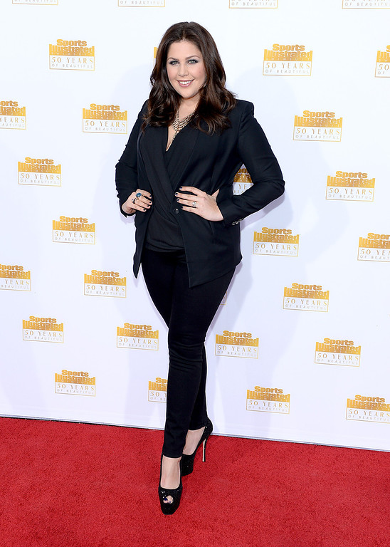. HOLLYWOOD, CA - JANUARY 14: Singer Hillary Scott of the group Lady Antebellum attends NBC and Time Inc. celebrate the 50th anniversary of the Sports Illustrated Swimsuit Issue at Dolby Theatre on January 14, 2014 in Hollywood, California.  (Photo by Dimitrios Kambouris/Getty Images)