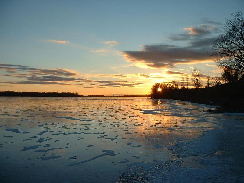sunset on Black Lake