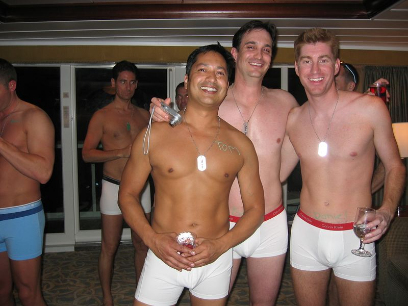 After the military party we were invited to an underwear party