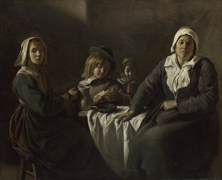Four Figures at a Table