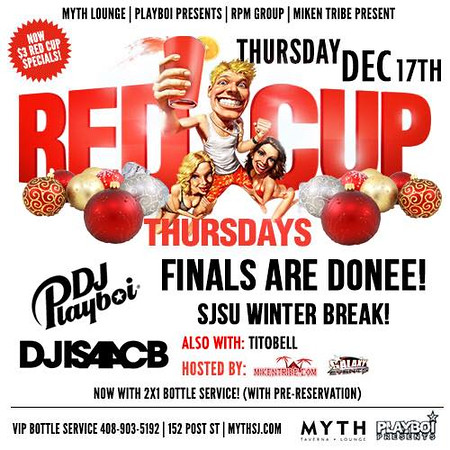 Red Cup Thursdays @ Myth Taverna & Lounge 12.17.15