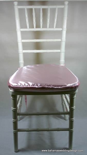 Satin Chair Pad Cover - Pink