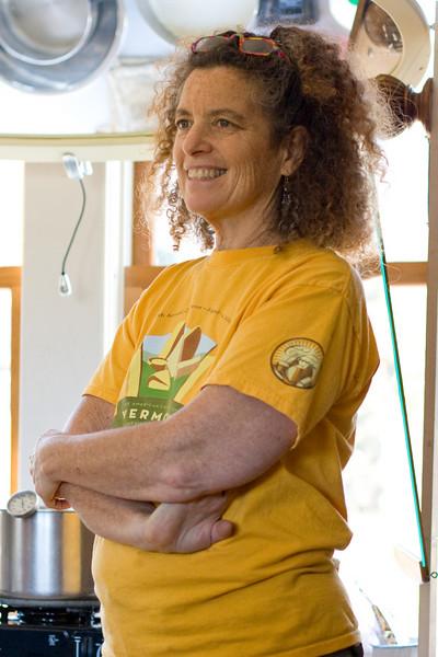 Ricki, who led the cheese making workshop.