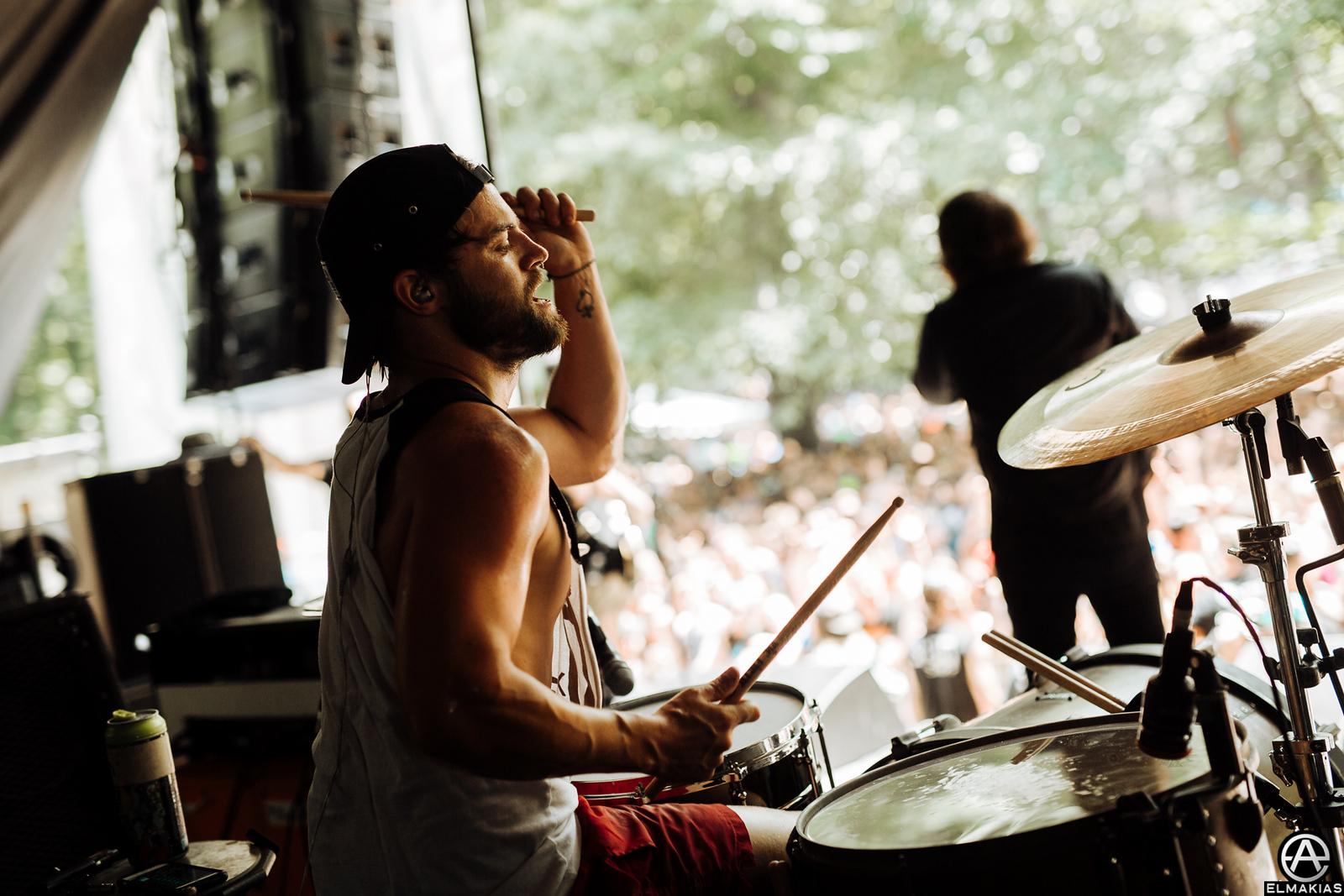 Brandon Mullins of Beartooth live at Vans Warped Tour 2015 by Adam Elmakias