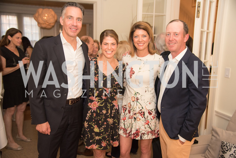 "Jim Sciutto, Gloria Riviera, Nora O'Donnell, Geoff Tracy, Book Party with Ambassador Winston Lord, ""Kissinger on Kissinger"", and Jim Sciutto, ""The Shadow War"", at the home of Juleanna Glover and Christopher Reiter.  Summer 2019, Photo by Ben Droz."