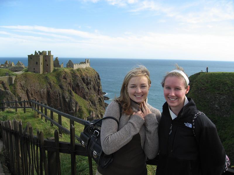 Lauren and me in front of Dunnottar Castle.