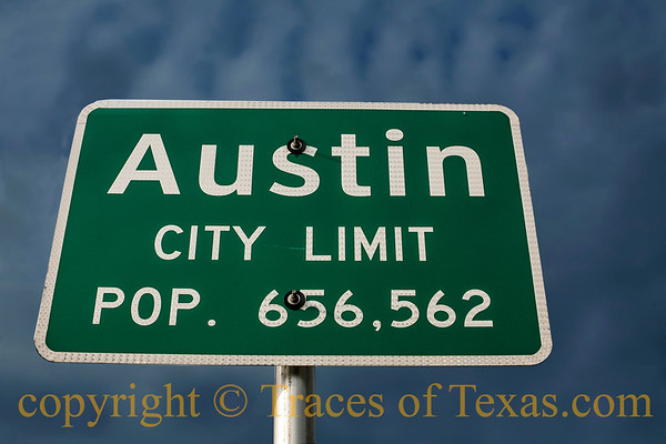 City Limits Signs, Water Towers, and Football Stadiums