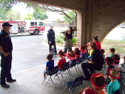 Fire Dept visit San Antonio Preschool