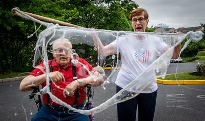 Bubbles Are Great For Senior Citizens
