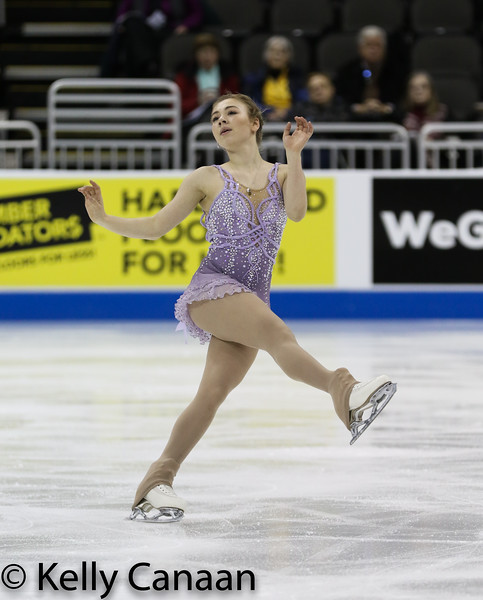 Haley Beavers performs her free skate at the 2017 US Figure Skating Championships.