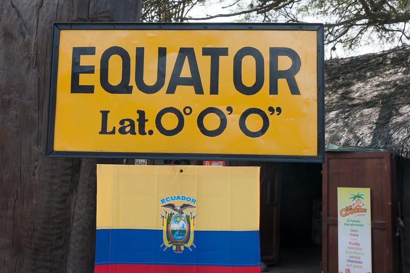 The Equator sign at Quito, Ecuador