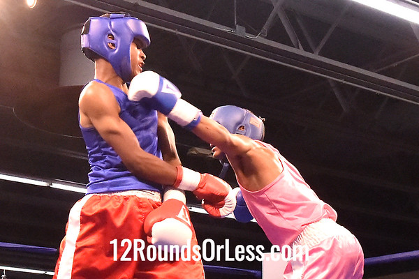 "Bout 10 Dejauntea ""Tiger"" Johnson, Red Gloves, Cleveland -vs- Mike Winthrow, Blue Gloves, PA, 119 lbs"