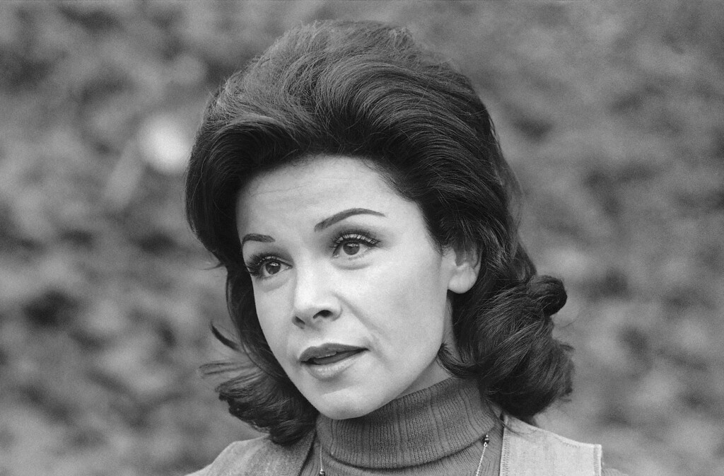 . Former actress Annette Funicello is shown, Jan. 30, 1978. (AP Photo/George Brich)