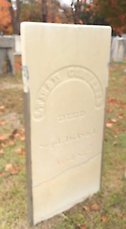 Headstone repair Lyme, NH October 2020.