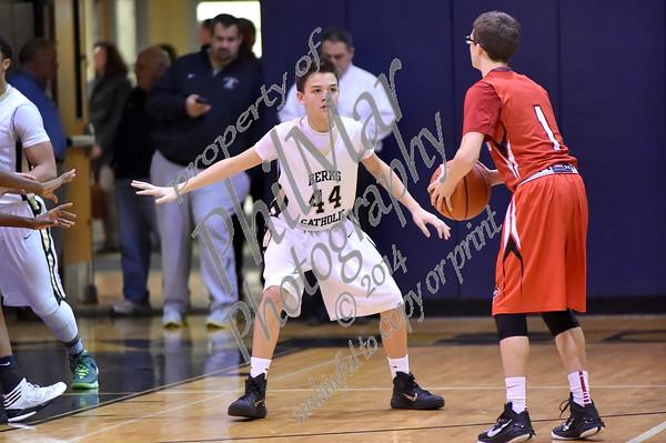 JV- Berks Catholic vs Fleetwood Boys Basketball 2014 - 2015