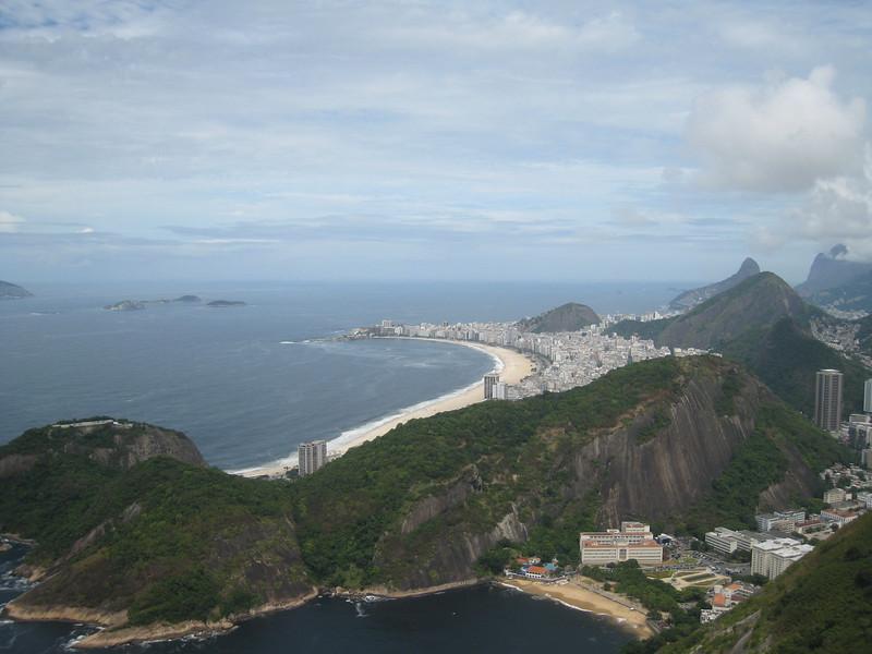 View from top of Sugarloaf Mountain, Rio de Janeiro, Brazil