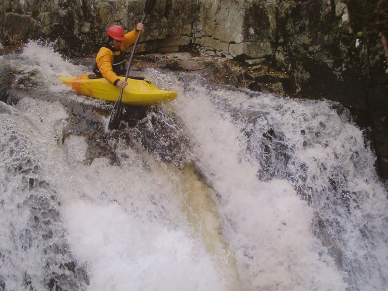 There are easier ways toe descent the streams in summer. Gairngorm Lodge pic.
