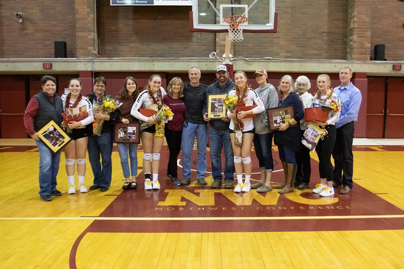 Willamette Bearcats Volleyball Senior Night