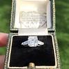 2.03ct Emerald Cut Diamond Ring, GIA K IF 12
