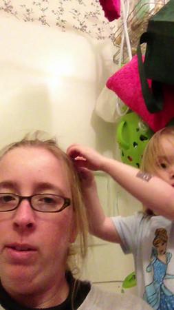 Doing Mommy's Hair