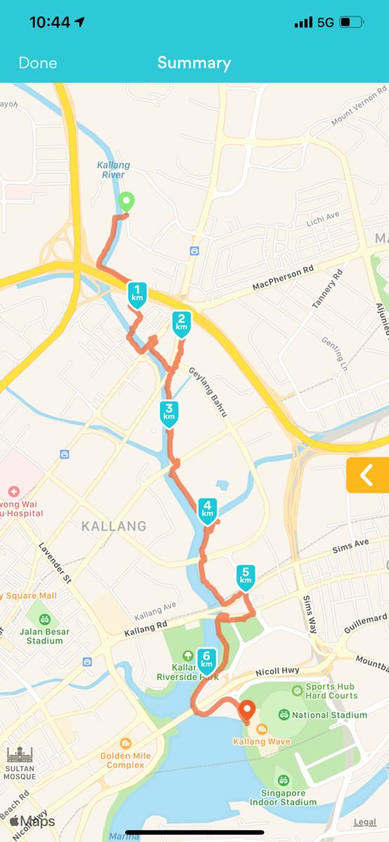 Kallang Park Connector : Potong Pasir to Sports Hub Distance