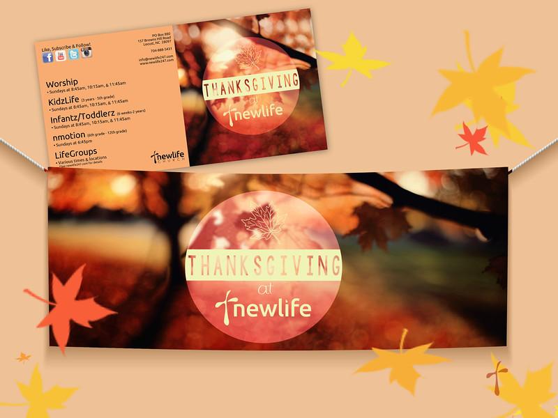 NewLife Thanksgiving Series Graphic, Series Folder & Banner