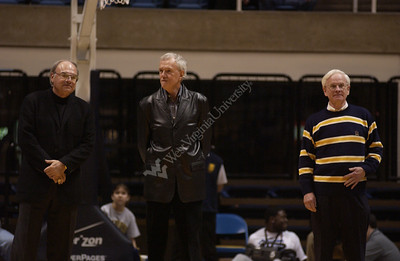 23435 WVU DISTINGUISHED ALUMNI ANNOUNCED DURING BASKETBALL GAME
