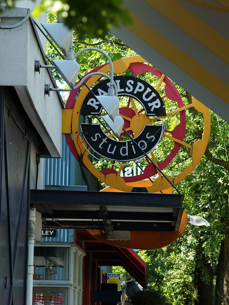 Granville Island is home to countless artist's studio, selling items made regionally by BC artists and First Nations craftsmen - leather, glass, ceramic, cloth and paintings are just some of the items available. And they ship! (2009)