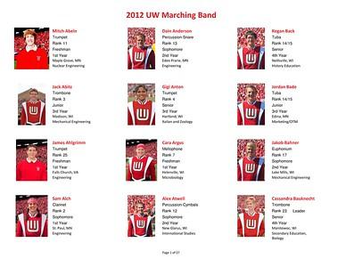 Meet The 2012  UW Band