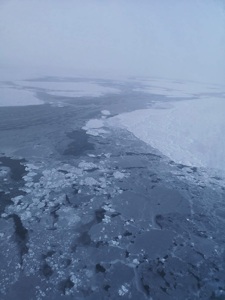 Hudson Bay from the helicopter