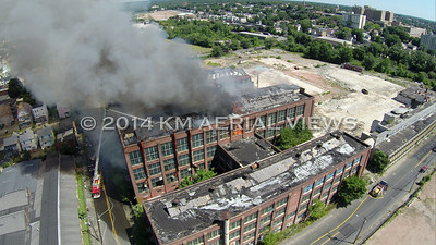 Aerial Views of the Remington Arms Factory Fire (August 19, 2014)