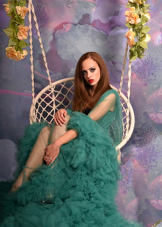 Green Gown - Bell Fantasy Backdrop