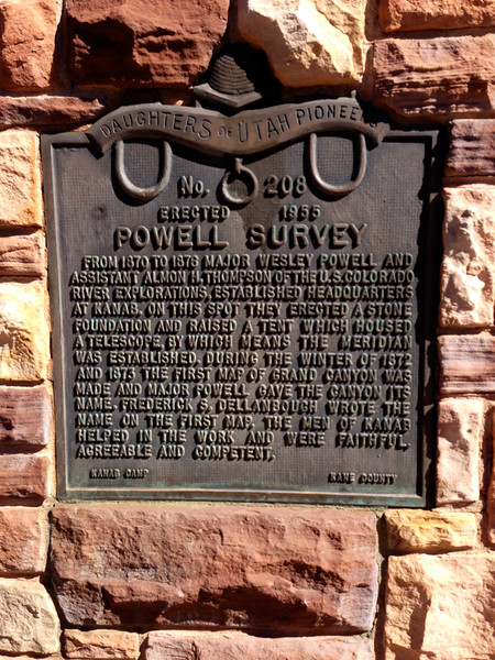 Kanab - John Wesley Powell Monument Plaque - KCOT.jpg