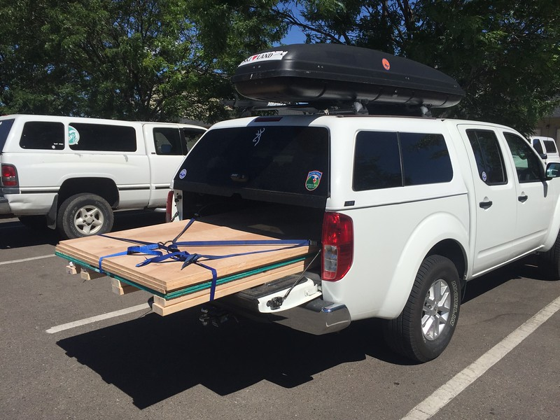 If you are careful, you can haul plywood in a 5' bed!