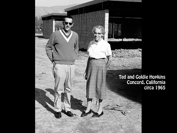 Ted and Goldie Hopkins, probably in Concord, California in about 1965.