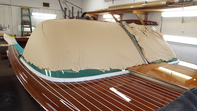 Another view of the starboard windshield fit.