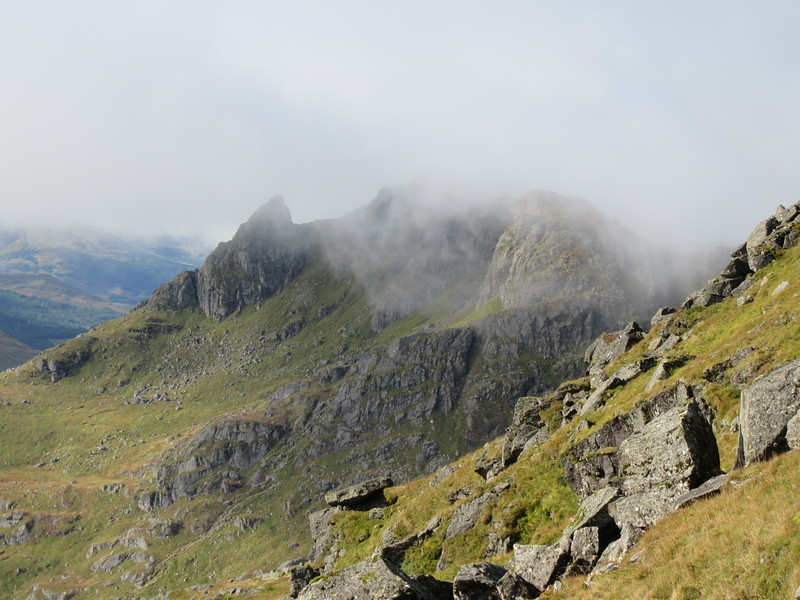 The Cobbler shrouded in cloud
