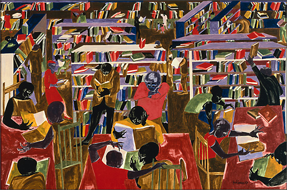 "Jacob Lawrence, ""Dreams No.5: The Library"" (1967)"